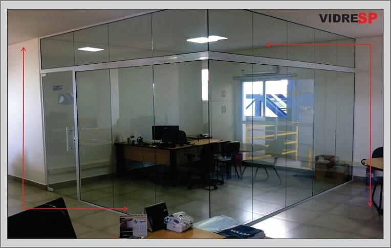 divisorias de vidro